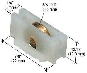 CRL Sling Window Roller with 3//8 Brass Wheel for Better-Bilt Aluminum /& Elco Windows