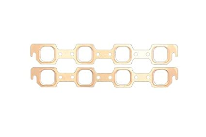 SCE Gaskets 4736 Pro-Copper Exhaust Gasket for Small Block Chevy with Brodix Heads