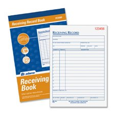 Book Adams Receiving Record - Adams DC5089 Receiving Record Book,Carbonless,2-Part,5-9/16 in.x8-7/16 in,WE