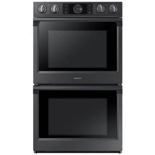 Samsung Appliance NV51K7770DG 30' 10.2 cu. ft. Total Capacity Electric Double Wall Oven with Top Broiler, in Black Stainless Steel