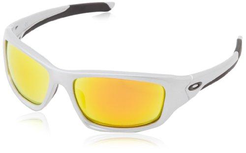 Oakley Valve Polarized Iridium Rectangular Sunglasses,Silver,60 ()