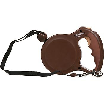 Petmate Walkabout Retractable Dog Leash Cord for Dogs up to 44 Pounds, 16 Feet, Medium, Chocolate Brown, My Pet Supplies