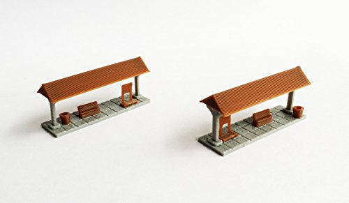 Outland Models Train Railway Layout Small Station Passenger Platform x2 N Scale