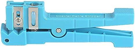Monland 45-163 Herramienta De Corte De Cable De Tramo Medio Separador De Fibra /óptica Cortador De Tubo Suelto Azul