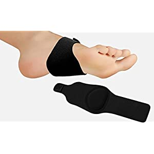 Plantar Fasciitis Arch Support Insert with Cushion Gel Therapy - Shoe Insoles with Compression – Foot Pain Relief Socks for Flat Feet - Cushioned Splint Orthotics for Fallen Arches - Adjustable (x2)