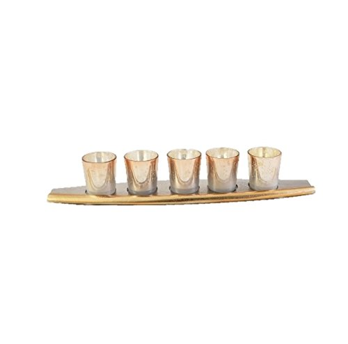 Yellow Door The Decorative Boat Votive Holder Candle T-Light Stand Home Décor Gift Set of 5 by Yellow Door