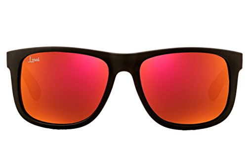 The Starter - Orange Mirrored Sunglasses - Men and Women - Fashionable Designer Look with Colored Sunglass Lenses - Rubber Frames - Unisex Travel Eyeglasses with UV 400 Protection - - Sunglasses Orange Mirrored