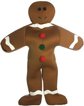 Halloween Gingerbread Costumes Man (GINGERBREAD MAN)