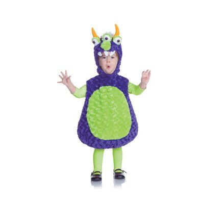 [Underwraps Costumes Baby's Three Eyed Monster Belly, Purple/Green, Medium] (Alien Costume Woman)
