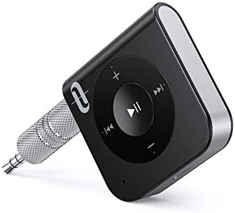 TaoTronics Portable Wireless Audio Adapter 3.5mm Aux Stereo Output Hands-Free Calling, Bluetooth 4.2, A2DP, CVC Noise Cancelling 15 Hour Bluetooth Receiver//Bluetooth Car Kit
