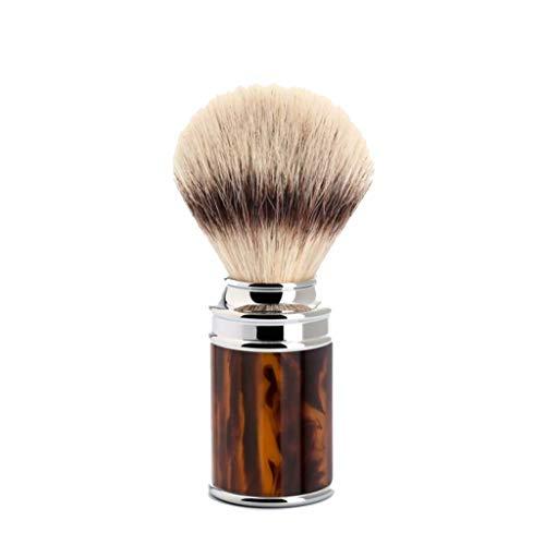 (Shaving brush from MÜHLE, Silvertip Fibre, handle material high-grade resin tortoiseshell)