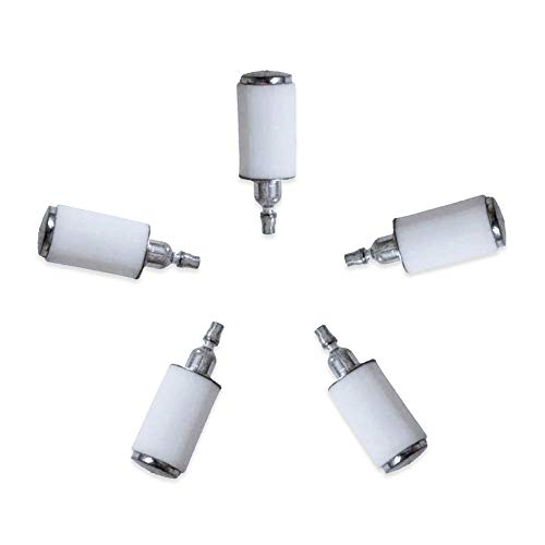 Poweka Fuel Filter Fit for Poulan Chainsaw 2050 2150 2375 Weedeater Craftsman Trimmer Chainsaw Blower 530095646 New Pack of 5