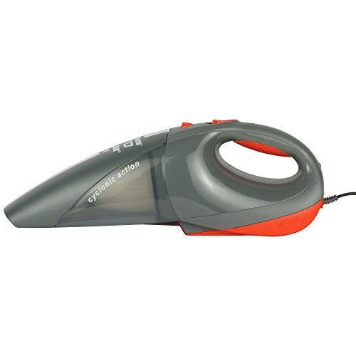 BLACK+DECKER ACV1205 12V DC Cyclonic Powerful Auto Dustbuster Car Vacuum Cleaner with 6 accessories  Gray