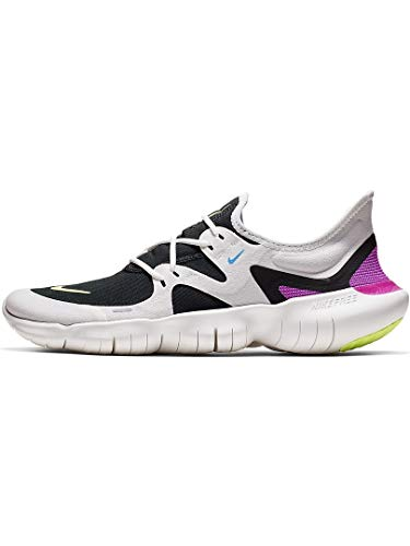 Nike Men's Free RN 5.0 Running Shoes (7.5, White/Volt) by Nike (Image #1)