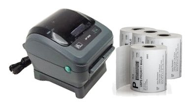 Zebra ZP450 Thermal Label Printer Bundle (1,000 labels included)