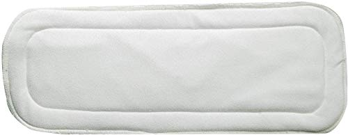 Chinmay Kids Microfiber 4 Layer Baby Diaper Inserts – Reusable Baby Cloth Diaper, Age 0-24 Months, White (Pack of 5)