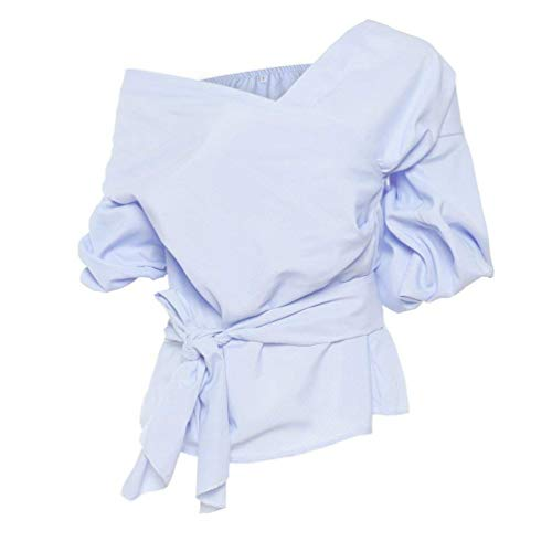 Et Haut Party Blau Costume lgant Uni Mode Long Tendance Chemisiers Printemps Manche Loisir Manches Chic Lanires Femme Shirts Carmen Jeune Fille Blouse 8WT1TEpnH