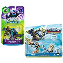 Skylanders SWAP Force & Super Chargers Character Bundle Pack (3): Hurricane Jet-Vac, Jet Stream, and Trap Shadow
