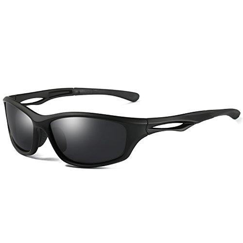 Laura Fairy Polarized Sports Sunglasses TR90 Silver Unisex Running Cycling Fishing (matte - Sunglasses Runner