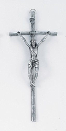 Pewter Papal Wall Cross Crucifix, 11 ()