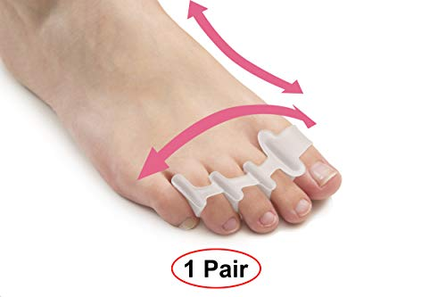 Toe Separators for Bunions Plantar Fasciitis Hammer Toes Yoga Sports Original Gel Toe Stretchers Straightener Spreaders Pads Small Toe Protectors for Men Women Stop Foot Pain