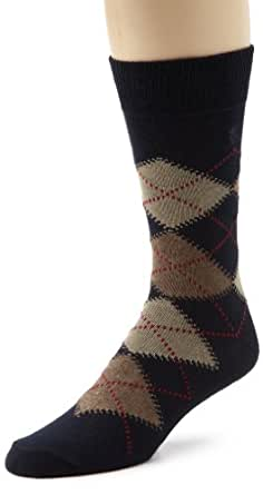 IZOD Men's 3-Pack True Argyle Socks, Blue/Navy, Sock Size:10-13/Shoe Size: 6-12