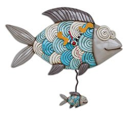 Allen-Designs-Michael-Bubble-Fish-Pendulum-Wall-Clock