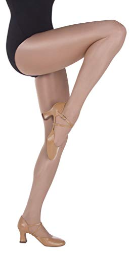 Body Wrappers Womens Ultimate Shimmer Footed Tights (Jazzy Tan, 3X/4X) - A55
