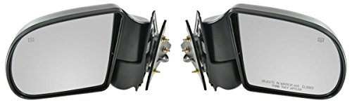 Black Power Heated Side Door Mirrors Left & Right Pair Set for Blazer S10 Jimmy (Blazer Door Mirror)