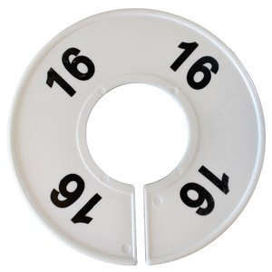 American # 461116,''16'' Round Size Dividers, Size Dividers Round White with Black Numbers (100 per Pack)