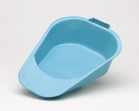 Fracture Bedpan Medegen Blue - Item Number 00081CS - 1 Quart - 6 Each / Case