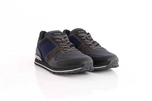 TOD'S SNEAKERS IN BLUE SUEDE, Hombre.