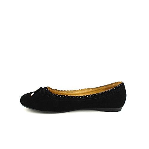 Cendriyon Femme Ballerine Noire Chaussures FILIPINE pvROp