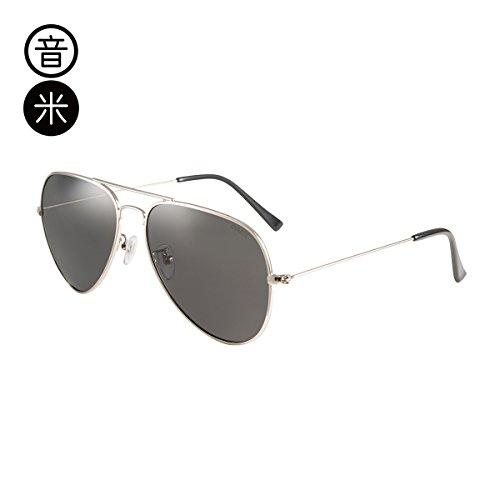 Gray Silver comodidad gemajing Gafas conducción de Trumpet Frame trompeta café conductor piloto pionero gafas macho sol gafas color té polarizadas Sheet de KOMNY xnRwXq8Uvq