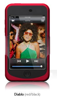 3g Touch Silicone (iSkin Silicone Case for iPod touch 2G, 3G (Red))