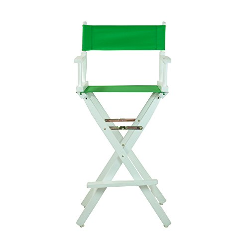 Casual-Home-30-Inch-Director-Chair-White-Frame-Green-Canvas