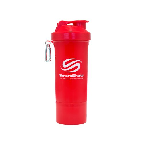 SmartShake Slim Neon Red 17 oz (500 ml)