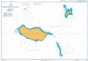 BA Chart 1831: Arquipelago da Madeira 1831 Map