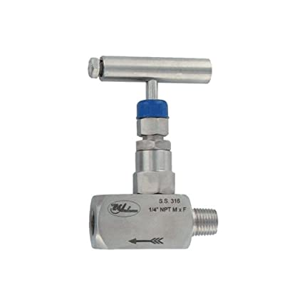 "Dwyer® 1/2"" Needle Valve, HNV-SSS24B, Female x Male, Pressures up to 6000 psi from Dwyer Instruments, Inc."