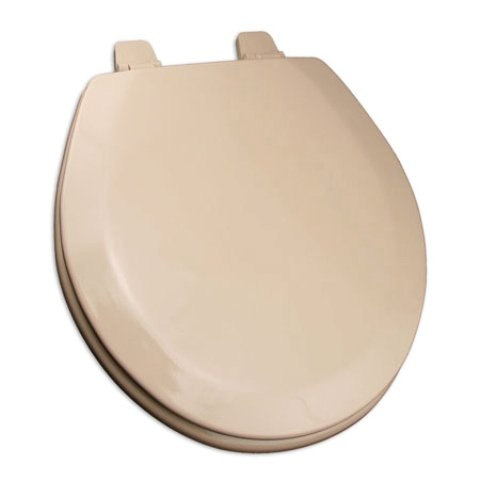 -30 Deluxe Molded Wood Toilet Seat, Round, Fawn Beige ()