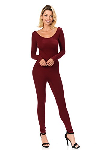 - 31tji6oP7OL - Fashion Aktiv Women Catsuit Cotton Lycra Tank Long Sleeve Yoga Bodysuit Jumpsuit