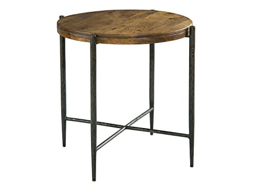End Hekman Wood Table (Hekman Furniture 27453 Metal and Wood End Accent Side Table)