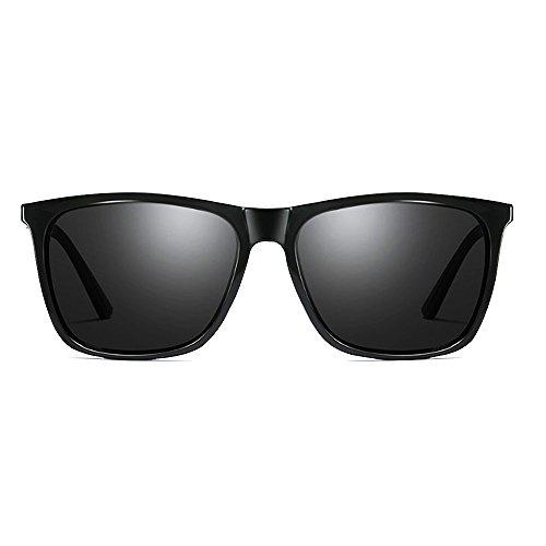 VS001 Grey Black Protección Marco Sol Metal Frame VeBrellen Mg de Polarizadas Gafas Lens y Mujer Hombres para UV400 de Al wn1UZaq