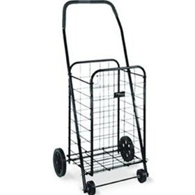 Mabis Dmi Healthcare Folding Shopping Cart in Black