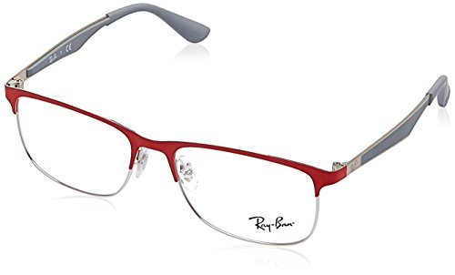 Ray-Ban RY1052 Eyeglass Frames 4059-49 - Silver/matte Red - Ban Frames Red Ray Eyeglass