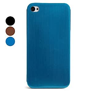 DUR Smooth Style Metal Back Case for iPhone 4 and 4S (Assorted Colors) , Blue