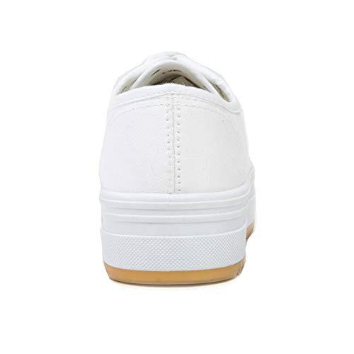 Mujer Lona con para Zapatillas De Blanco Cordones ANDY Z qxtFg0S