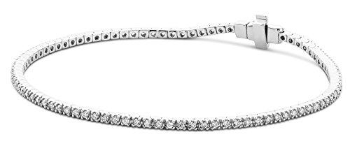 Miore - Bracelet Femme - Or blanc 375/1000 (9 carats) 5.2 gr - Diamant 1 cts