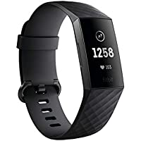 Fitbit Charge 3 Fitness Activity Tracker with Classic Band (Black/Graphite Aluminum)