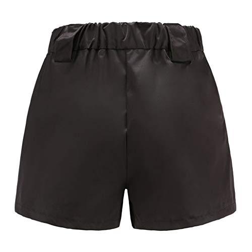 Pantalon Shorts De A Élégant Haute Casual Mode Pas Poche Sexy La Noir Cher Femme Ample Salopette Taille Avec Sport Chic Elastique Ete HHdqCrw